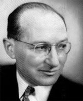 Black and white photo of Kurt Lewin